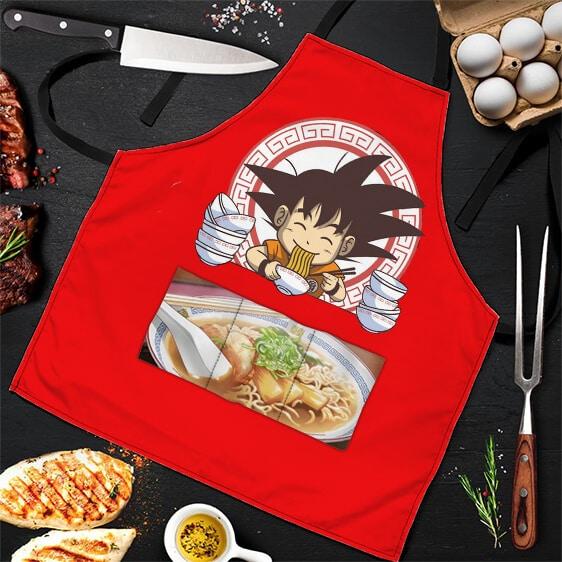 Son Goku Eating Delicious Ramen Dragon Ball Z Awesome Apron