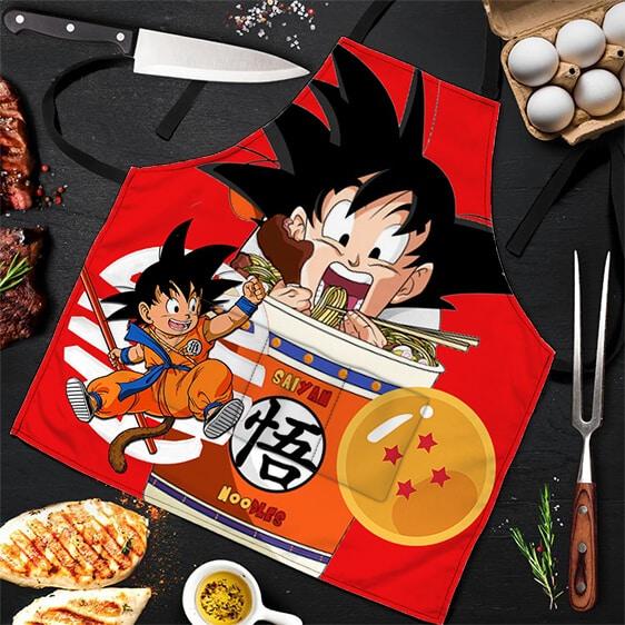 Son Goku Eating Saiyan Noodles Dragon Ball Z Powerful Apron