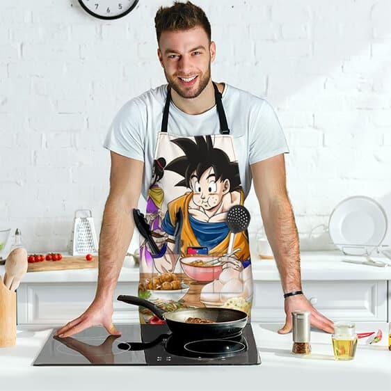 Son Goku Eating with Chichi Dragon Ball Cool Awesome Apron