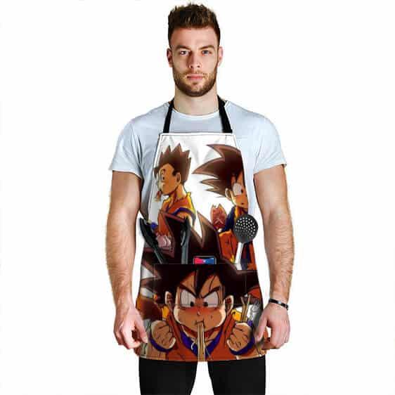 Son Goku Gohan and Gotek Eat Out Dragon Ball Z Awesome Apron