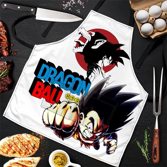 Son Goku and Oozaru Form Dragon Ball Awesome Powerful Apron
