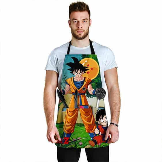 Son Goku and Son Gohan Dragon Ball Z Powerful and Cool Apron