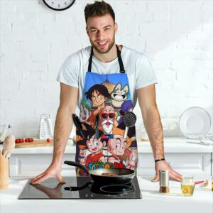 Son Goku with Z Fighters Gang Dragon Ball Cool Awesome Apron