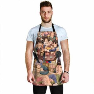 Son Goku's Family and the Z Fighters DBZ Cool Awesome Apron