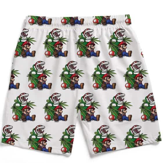 Stoner Mario Chilling With Piranha Plant Men's Beach Shorts