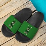 Stoner Mike Monsters Inc Dope Green Black 420 Weed Slide Sandals