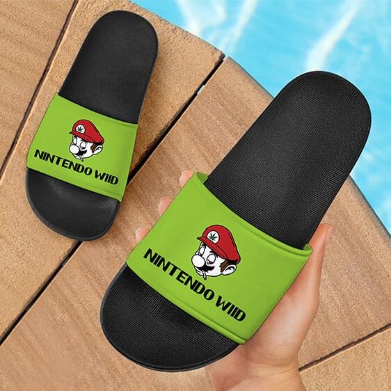 Super Mario Nintendo Wii Marijuana Parody Cool Slide Sandals