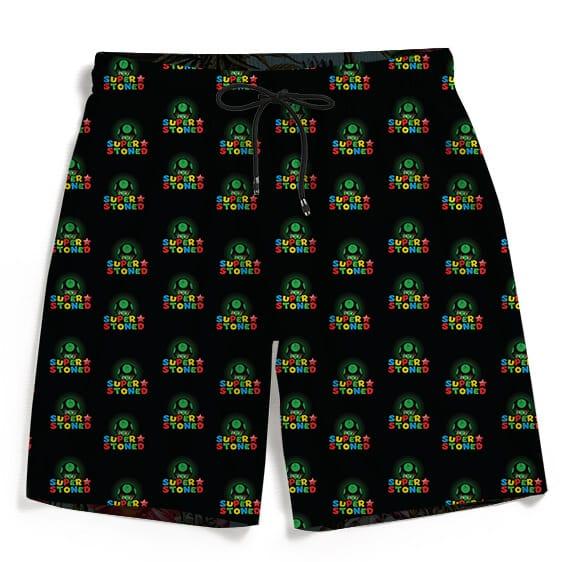 Super Stoned Mushroom Weed Marijuana Mario Cool Men's Shorts