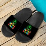 Super Stoned Mushroom Weed Marijuana Mario Cool Slide Sandals