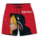 Supreme Billie Eilish Smoking Joint 420 Marijuana Beach Shorts