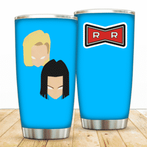 Android 18 And 17 Red Ribbon Army DBZ Powerful Tumbler