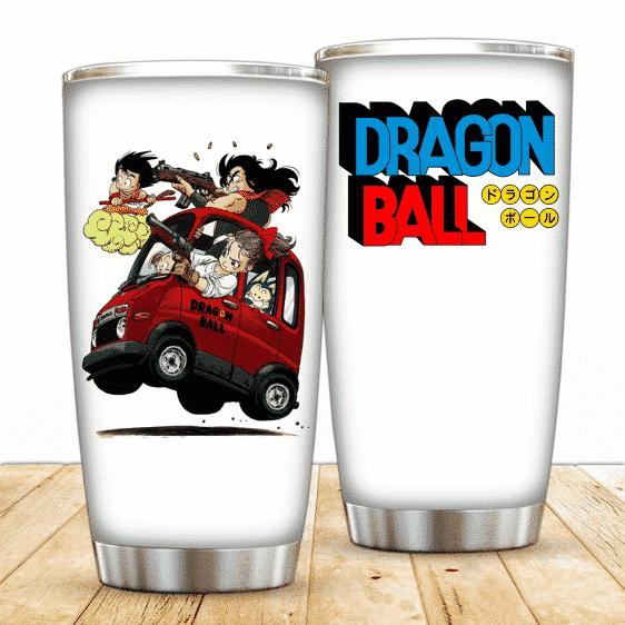 Son Goku And The Gang Riding Dragon Ball Powerful Tumbler