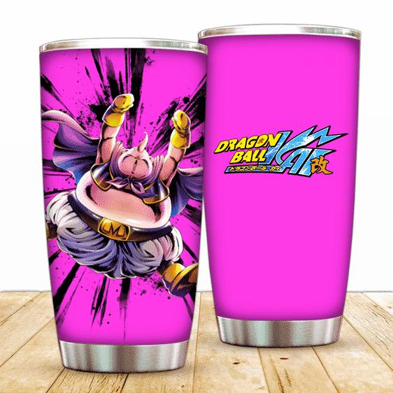 Dragon Ball Kai Happy Fat Majin Buu Awesome Pink Tumbler
