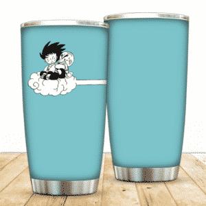 Goku And Krillin Riding Nimbus Cloud DBZ Minimalist Tumbler