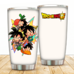 Chibi Bardock's Family Dragon Ball Super White Tumbler
