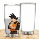 Son Goku Drinking Juice Casual Look Dragon Ball Z Tumbler