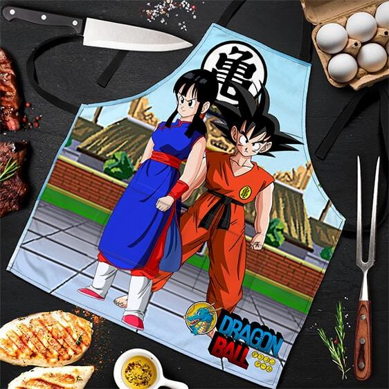 Teen Son Goku and Chi Chi Dragon Ball Awesome Powerful Apron