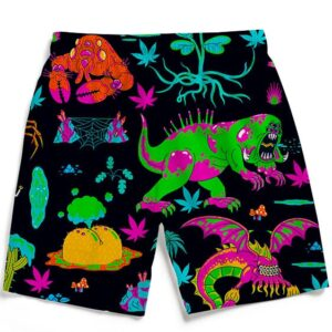 The Adventures of Rick and Morty Monsters 420 Men's Beach Shorts