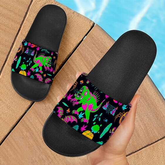The Adventures of Rick and Morty Monsters Trippy Slide Sandals
