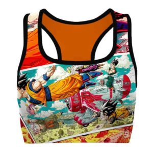 The Z Fighters Dragon Ball Z Cool and Awesome Sports Bra