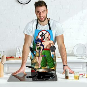 Tienshinhan and Launch Dragon Ball Z Cool and Awesome Apron