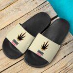 Trippy Marijuana Leaf Natural Product 420 Dope Slide Slippers