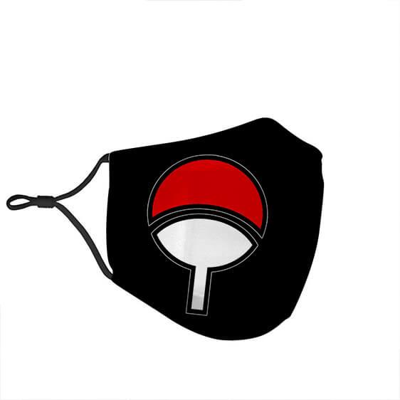 Uchiha Clan Paper Pan Symbol Black Dope Filtered Face Mask