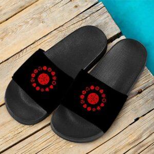 Uchiha Clan Rinne Sharingan Ten Tails Black Slide Slippers