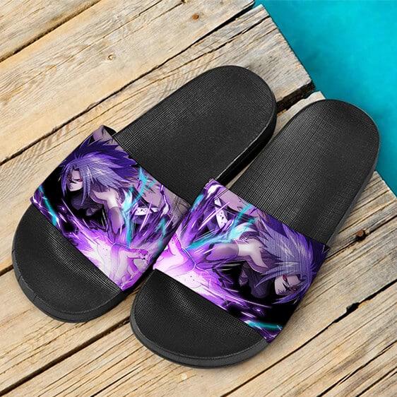 Uchiha Sasuke Cursed Marked Ninja Tribes Art Slide Slippers