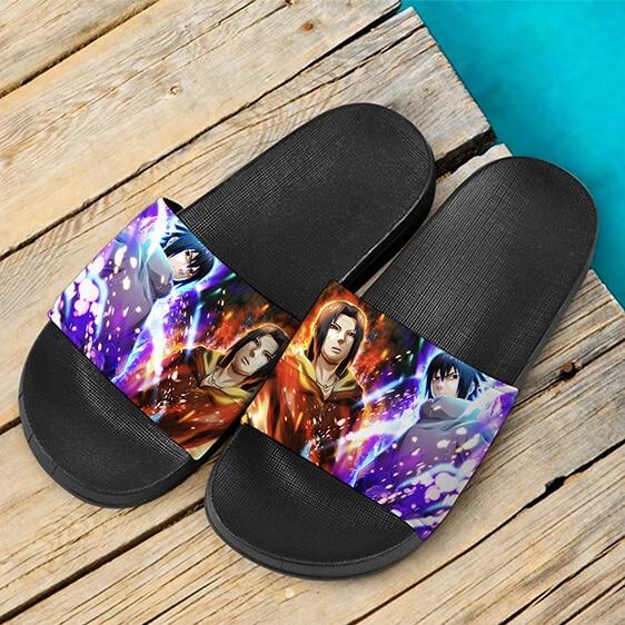Uchiha Sasuke Edo Tensei Itachi Sharingan Slide Footwear