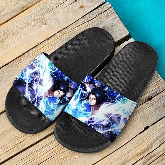 Uchiha Sasuke In Kimono Holding Sword Cool Slide Sandals