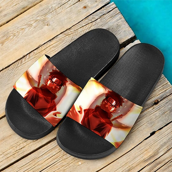 Uchiha Shisui of the Body Flicker Sharingan Cool Slide Slippers
