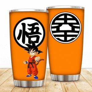 Fierce Kid Son Goku Kanji Sign Dragon Ball Z Awesome Tumbler