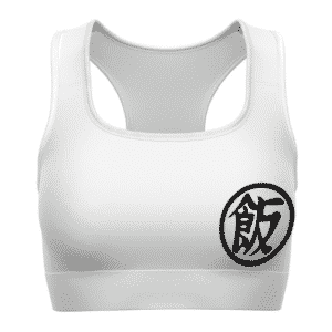 Super Saiyan 2 Gohan Kanji Dragon Ball White Cool Sports Bra
