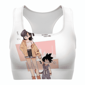 Bulma and Kid Goku Dragon Ball Z Cute and Cool Sports Bra