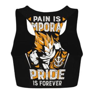 Vegeta Pride is Forever Dragon Ball Z Powerful Sports Bra