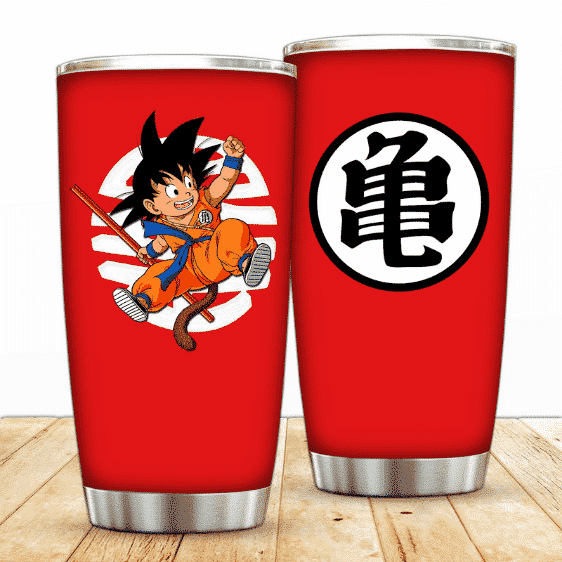 Kid Son Goku with Kame Kanji Dragon Ball Powerful Tumbler