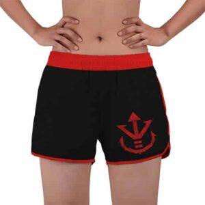 Vegeta Red Saiyan Logo Dragon Ball Z Women's Swim Shorts