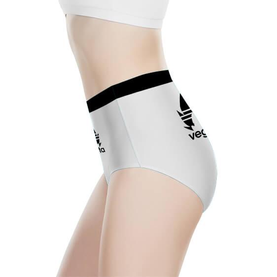 Vegeta Sporty DBZ White And Black Women's High-Waist Brief