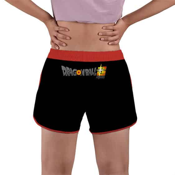 Vegito Icon Dragon Ball Super Black Women's Beach Shorts