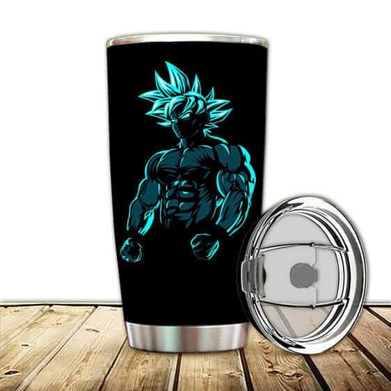 Vibrant Son Goku Ultra Instinct Silhouette DBZ Tumbler