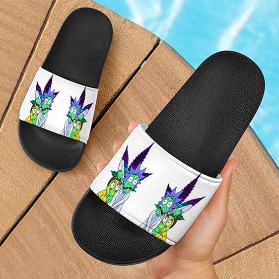 Weed Adventures of Rick and Morty Melting Art Slide Footwear