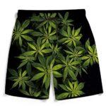 Weed Kush Ganja Plant 420 Marijuana Cool Men's Beach Shorts