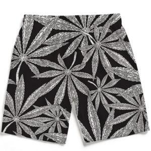 Weed Kush Mary Jane Leaves Elegant Men's Beach Shorts