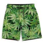 Weed Marijuana Plant Leaves Cool Wonderful Men's Boardshorts