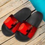 Wiz Khalifa Smoking Joint 420 Marijuana Red Slide Sandals