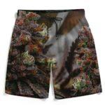 Realistic Marijuana Kush Nugs Full Print Men's Beach Shorts