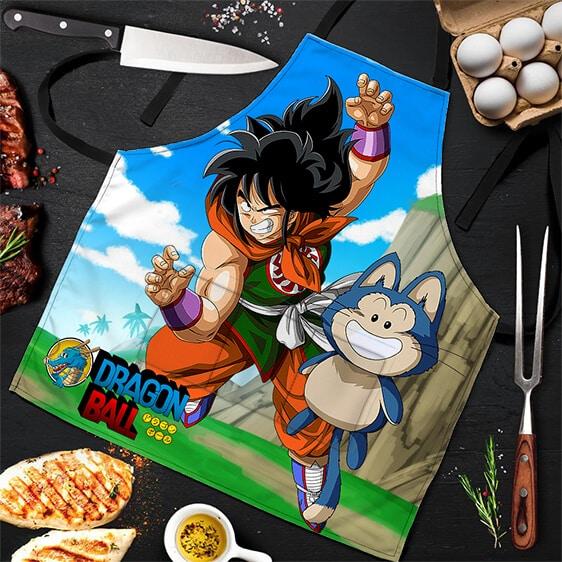 Yamcha and Puar Training Dragon Ball Cool and Awesome Apron