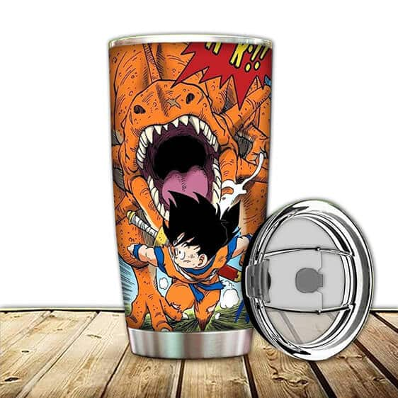 Young Son Gohan Chased By Dino Dragon Ball Z Awesome Tumbler