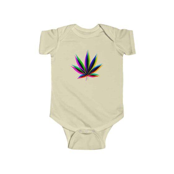 Trippy Sativa Marijuana Leaf Amazing 420 Newborn Bodysuit